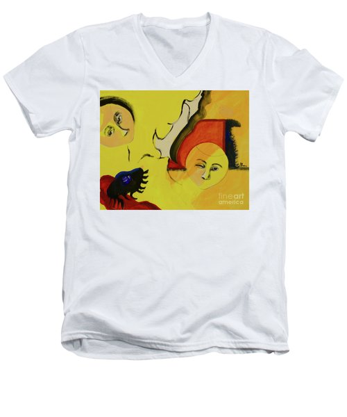 Men's V-Neck T-Shirt featuring the painting Solstice by Paul McKey