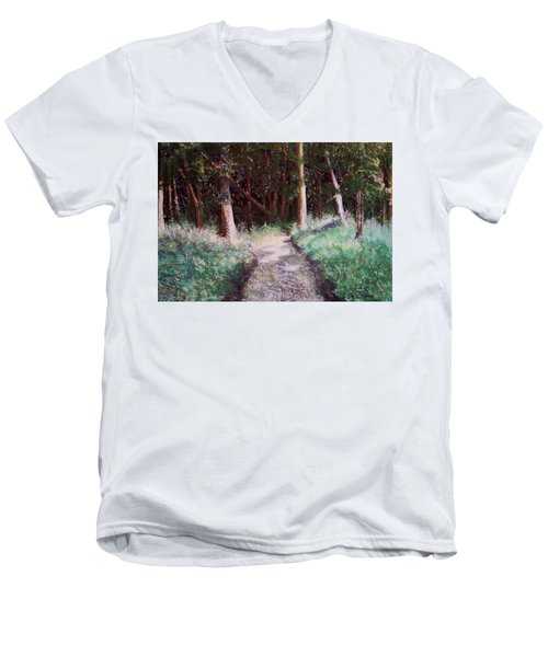 Solveigs Journey Men's V-Neck T-Shirt by Marika Evanson