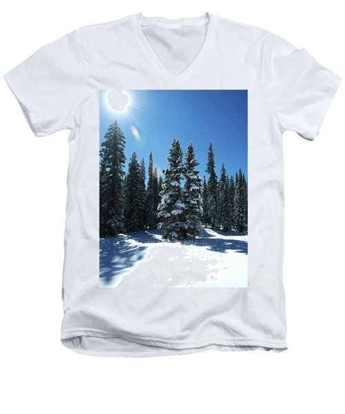 Some Where In Colorado Men's V-Neck T-Shirt