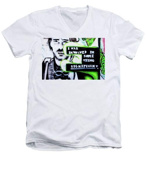 Men's V-Neck T-Shirt featuring the photograph Something Significant by Art Block Collections