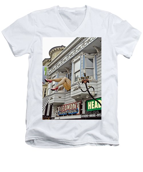 Something To Find Only The In The Haight Ashbury Men's V-Neck T-Shirt