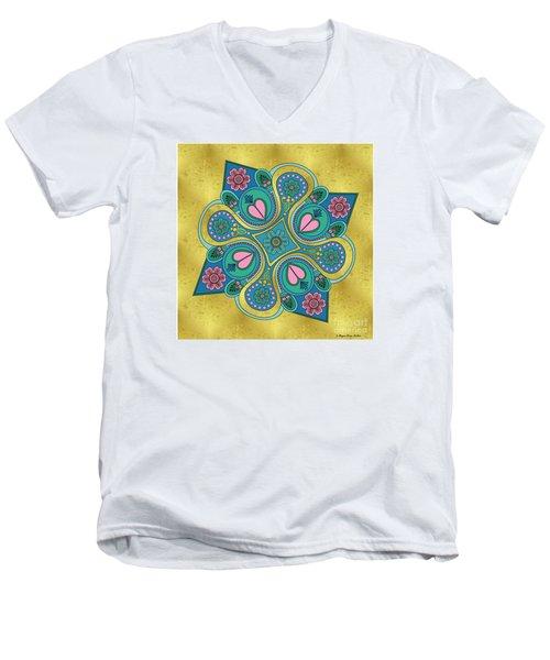 Something3 Men's V-Neck T-Shirt by Megan Dirsa-DuBois