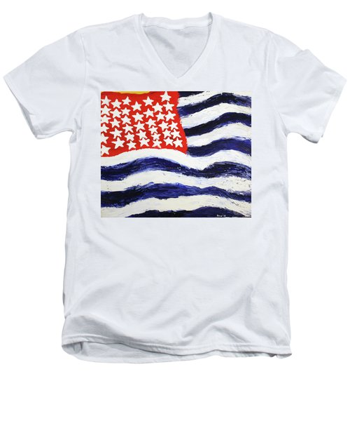 Something's Wrong With America Men's V-Neck T-Shirt