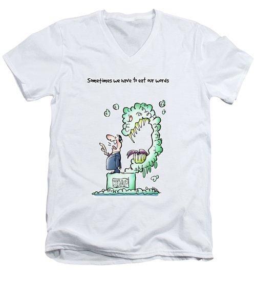 Sometimes Words Eat Us Men's V-Neck T-Shirt