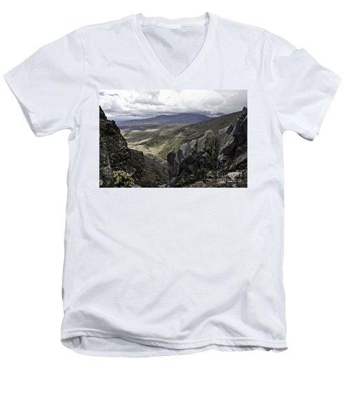 Somewhere In New Zealand Men's V-Neck T-Shirt by Yurix Sardinelly
