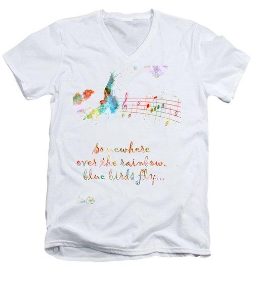 Somewhere Over The Rainbow Men's V-Neck T-Shirt by Nikki Smith