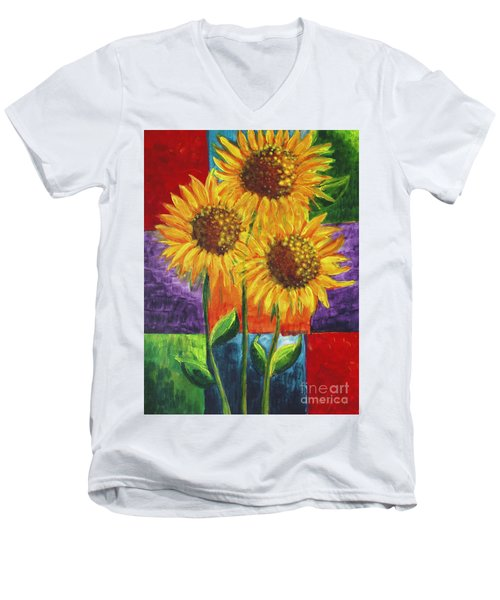 Sonflowers I Men's V-Neck T-Shirt