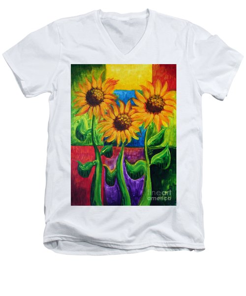 Sonflowers II Men's V-Neck T-Shirt