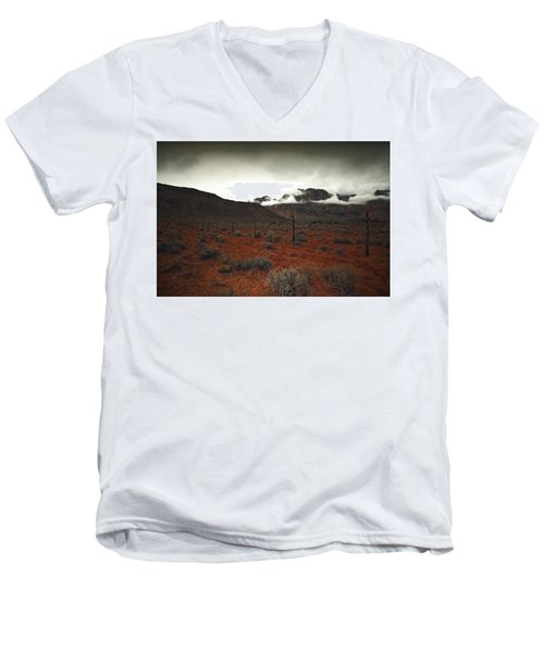 Men's V-Neck T-Shirt featuring the photograph Song by Mark Ross