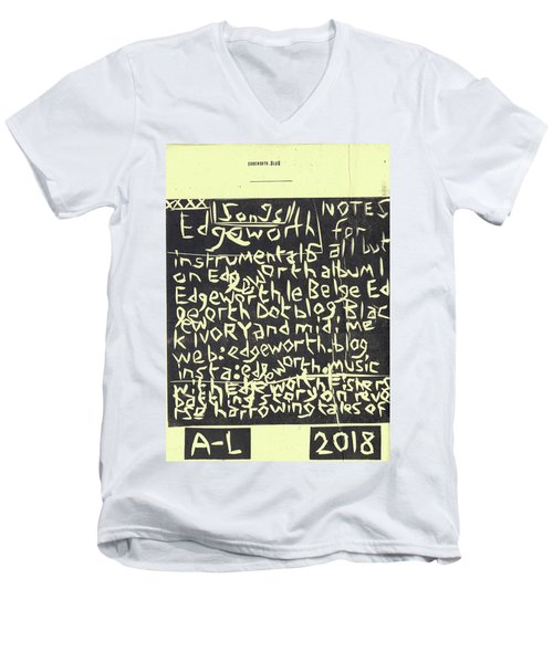 Song Notes Title Page A-l Men's V-Neck T-Shirt