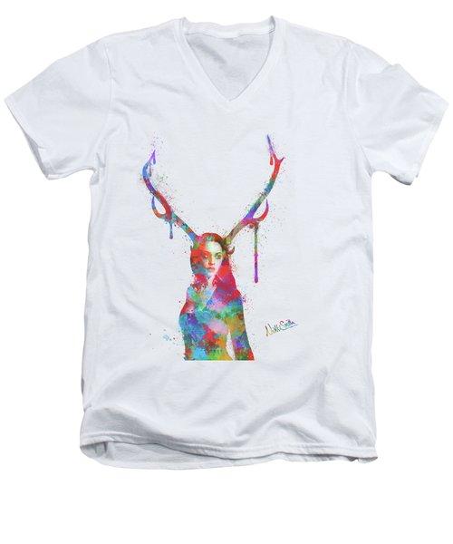 Song Of Elen Of The Ways Antlered Goddess Men's V-Neck T-Shirt