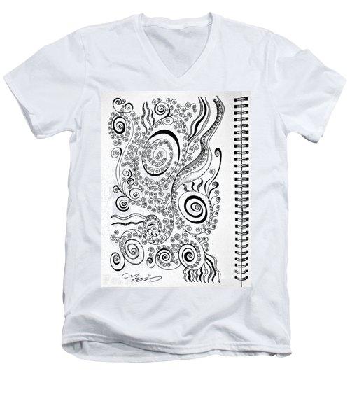 Sound Of The Lines Men's V-Neck T-Shirt