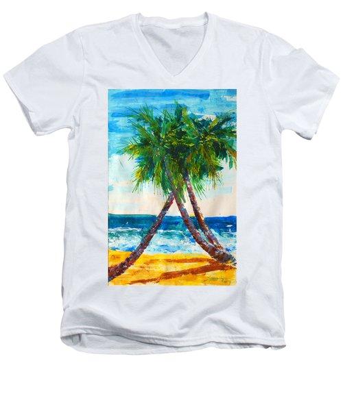 South Beach Palms Men's V-Neck T-Shirt