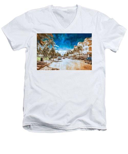 South Beach Road Men's V-Neck T-Shirt