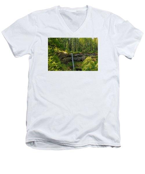 South Falls 0417 Men's V-Neck T-Shirt