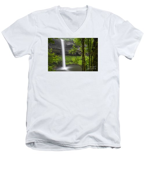 South Falls In Silver Falls State Park Men's V-Neck T-Shirt