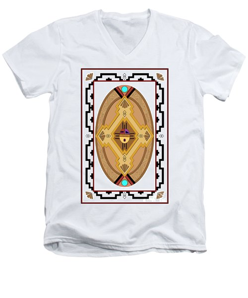 Southwest Collection - Oval Design Men's V-Neck T-Shirt