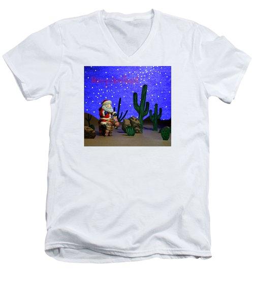 Southwest Santa  Men's V-Neck T-Shirt