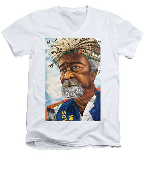 Soyinka An African Literary Icon Men's V-Neck T-Shirt