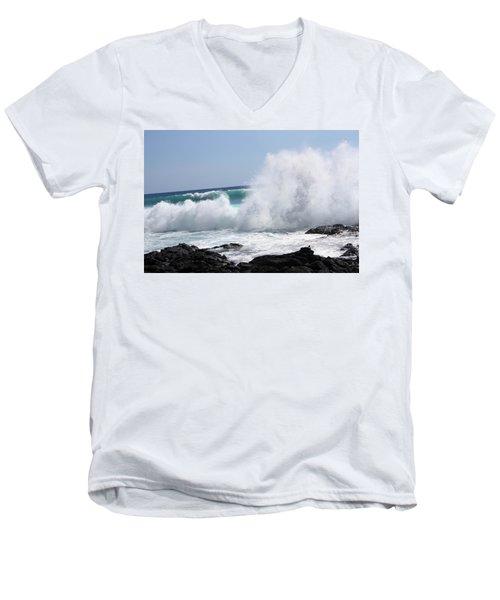 Sp-lash Men's V-Neck T-Shirt by Karen Nicholson