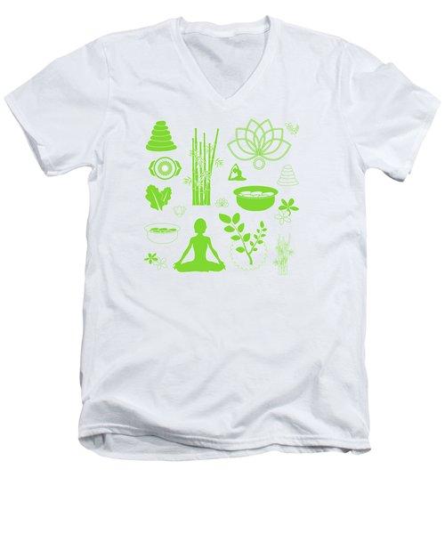 Spa Meditation Background Men's V-Neck T-Shirt by Serena King