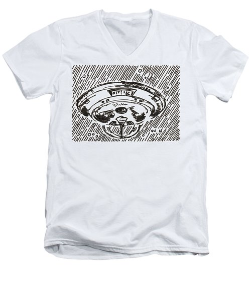 Space 2 2015 - Aceo Men's V-Neck T-Shirt by Joseph A Langley
