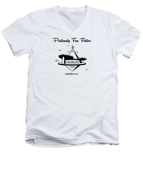 Space Station Men's V-Neck T-Shirt by Ana Baird