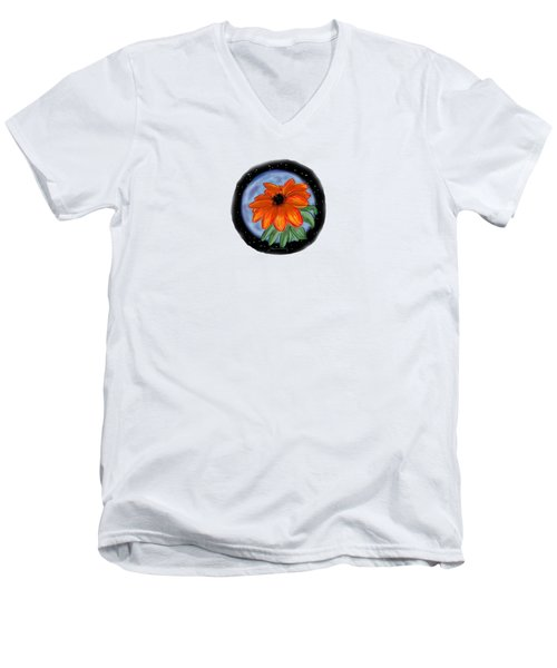 Space Zinnia Men's V-Neck T-Shirt
