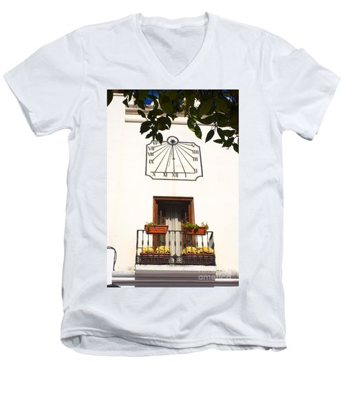 Spanish Sun Time Men's V-Neck T-Shirt