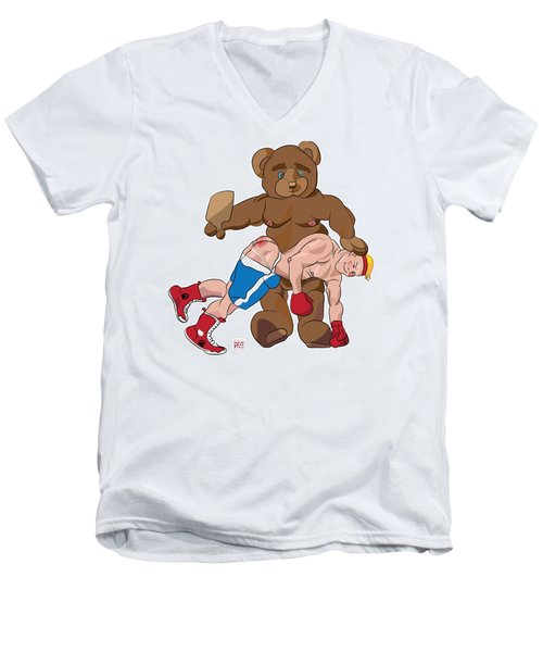 Spanking Bear Men's V-Neck T-Shirt