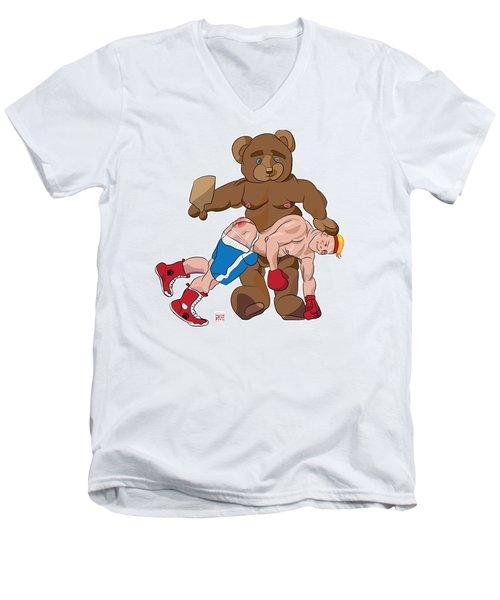 Spanking Bear Men's V-Neck T-Shirt
