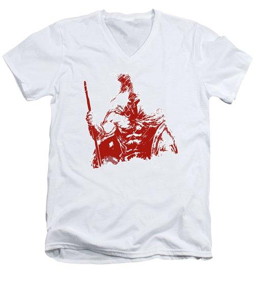 Spartan Warrior - Battleborn Men's V-Neck T-Shirt