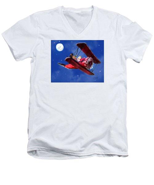 Special Delivery For Grandma Men's V-Neck T-Shirt