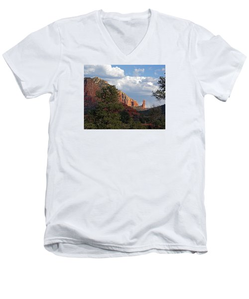 Men's V-Neck T-Shirt featuring the photograph Spectacle by Lynda Lehmann