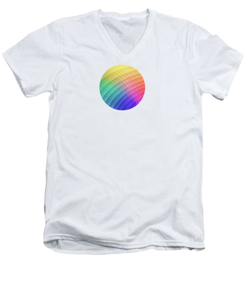 Spectrum Bomb Fruity Fresh Hdr Rainbow Colorful Experimental Pattern Men's V-Neck T-Shirt
