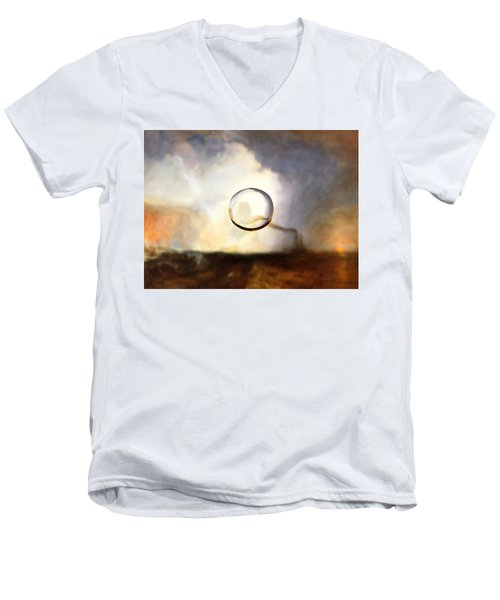 Sphere I Turner Men's V-Neck T-Shirt by David Bridburg