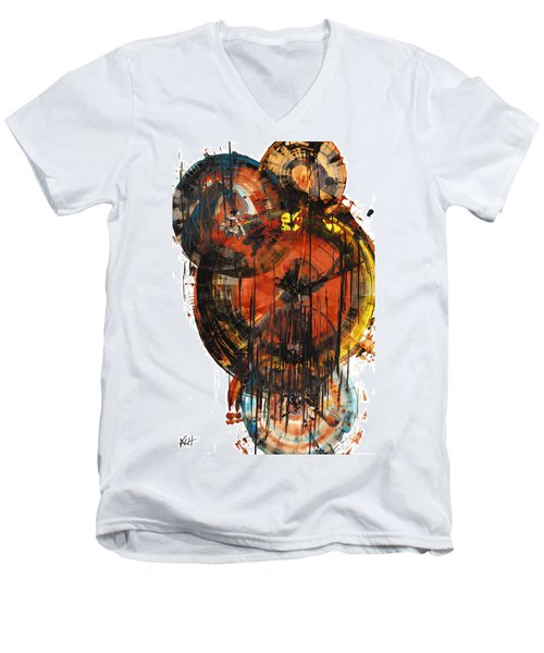 Men's V-Neck T-Shirt featuring the painting Sphere Series 1023.050312 by Kris Haas
