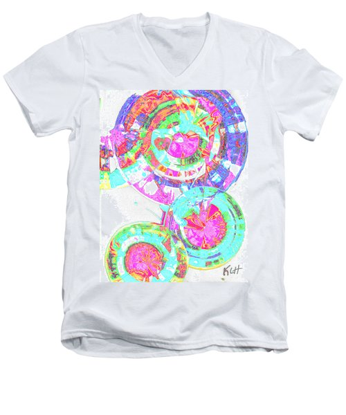 Sphere Series 965.030812vsscinvx3fddfx3 Men's V-Neck T-Shirt by Kris Haas