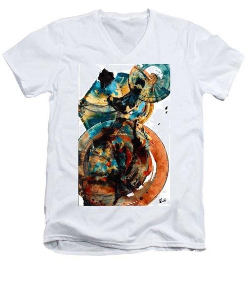 Spherical Joy Series 208.012011 Men's V-Neck T-Shirt by Kris Haas