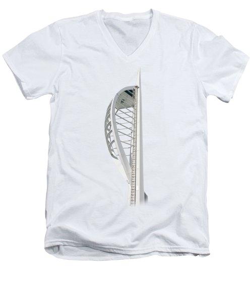 Spinnaker Tower On Transparent Background Men's V-Neck T-Shirt