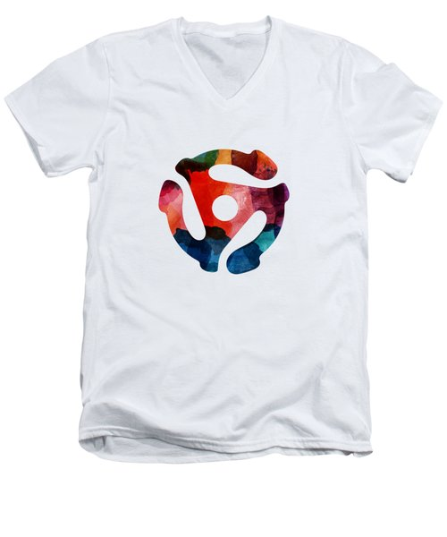 Spinning 45- Art By Linda Woods Men's V-Neck T-Shirt