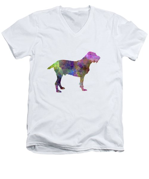 Spinone In Watercolor Men's V-Neck T-Shirt by Pablo Romero