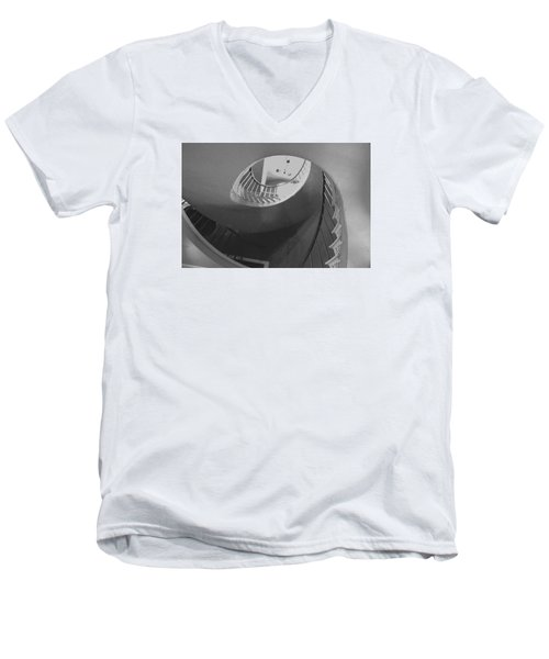 Spiral Stairs Men's V-Neck T-Shirt by Helen Haw
