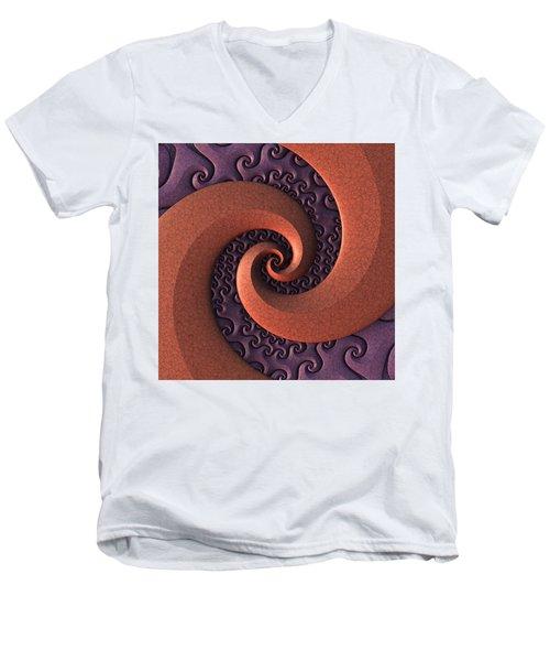 Men's V-Neck T-Shirt featuring the digital art Spiralicious by Lyle Hatch