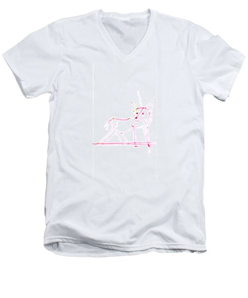 Spirit Animal . Ghost Fox Men's V-Neck T-Shirt