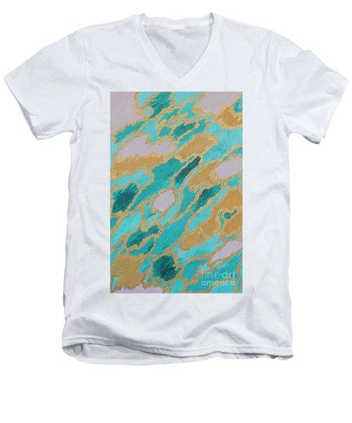Spirit Journey Men's V-Neck T-Shirt by Rachel Hannah