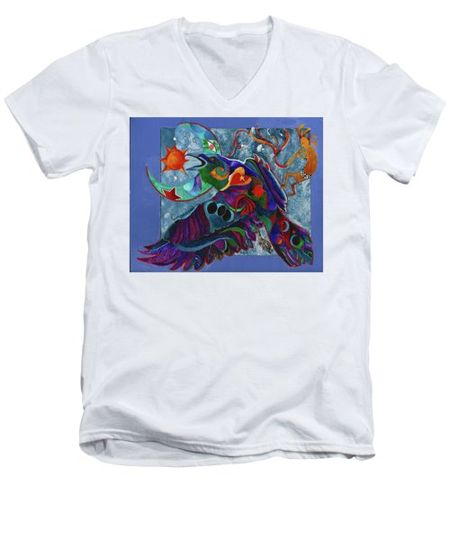 Spirit Raven Totem Men's V-Neck T-Shirt