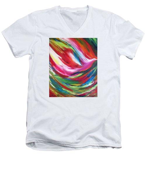 Spirit Takes Flight Men's V-Neck T-Shirt by Denise Hoag