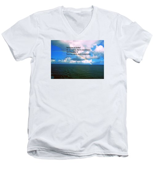 Men's V-Neck T-Shirt featuring the photograph Spiritual Belief by Gary Wonning