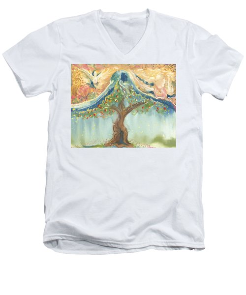 Spiritual Embrace Men's V-Neck T-Shirt
